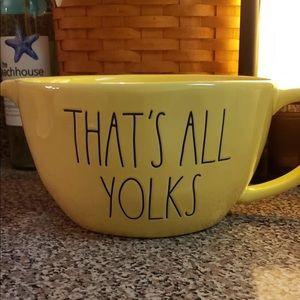 "Rae Dunn ""that's all yolks"" bowl"
